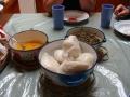 fufu, njama njama, and groundnut soup